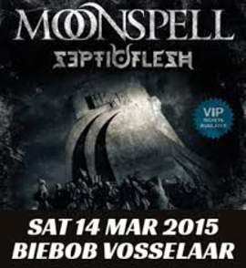 19/03/2015 : MOONSPELL & SEPTICFLESH - Biebob Vosselaar 14/3/2015