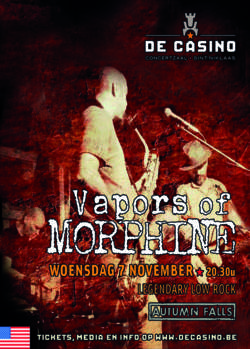 20/07/2018 : DANA COLLEY (VAPORS OF MORPHINE) - From the beginning to the last note
