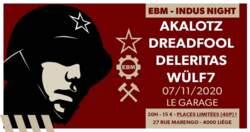21/10/2020 : DELERITAS - EBM-Indus Night Liège : The bands presented... Deleritas!