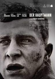 DER HAUPTMANN (2017) German-Polish-French biographical drama, black & white, directed by Robert Schwentke based on true facts.