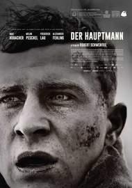 DER HAUPTMANN (2017) German-Polish-French biographical drama, black & white, directed by Robert Schwentke based on true facts.
