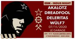 17/10/2020 : DREADFOOL - EBM-Indus Night Liège : The bands presented... DREADFOOL!