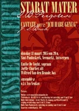 G.B. PERGOLESI/J.S. BACH Stabat Mater/Ich Habe Genug BWV 82 (Antwerpen, Sint-Pauluskerk, 31/3/2015)