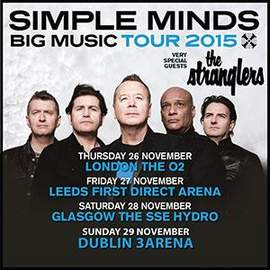 SIMPLE MINDS + THE STRANGLERS Glasgow, SSE Hydro (28/11/2015)