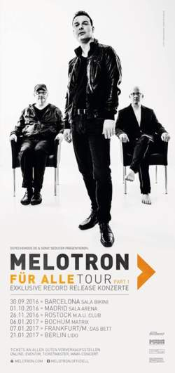 31/05/2016 : MELOTRON - We are trying new ways of composing and producing. Doing what we like to do. No compromises!