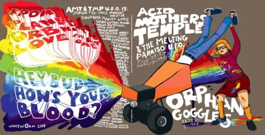 ORPHAN GOGGLES/ ACID MOTHERS TEMPLE & THE MELTING PARAISO U.F.O Split Single