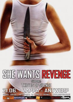 07/06/2012 : SHE WANTS REVENGE - At the end of the day there is always longing, sadness, regret, and an analysis of male/female relationships.