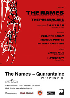 19/11/2018 : THE NAMES - We're lucky to have everyone still alive and well, unlike many of our friends of Factory records.