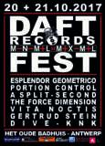 NEWS: This weekend! DAFT / MINIMAL MAXIMAL - FEST weekend in Antwerp!