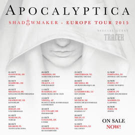 APOCALYPTICA/TRACER Brussels, AB (24th October 2015)