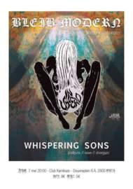 WHISPERING SONS + BLEIB MODERN In Utero, Mechelen-Kamikaze (07/05/16)