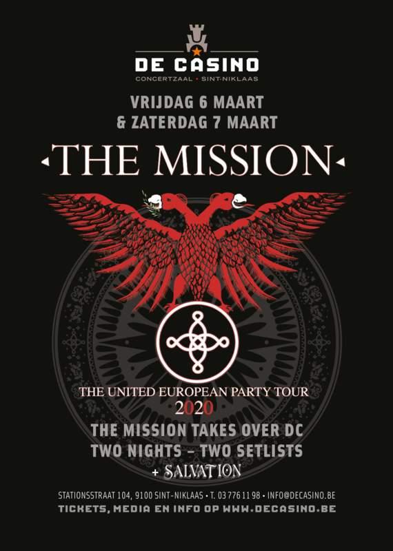 THE MISSION - THE UNITED EUROPEAN PARTY TOUR 2020, De Casino, 07/03/2020