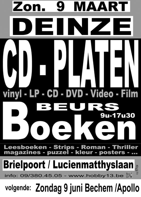 CD - PLATEN - BOEKEN BEURS, Brielpoort, Deinze