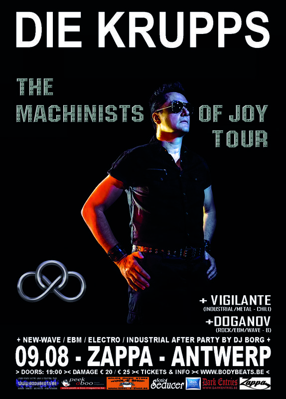 Die Krupps - The Machinists Of Joy Tour, Zappa, August Leyweg 6, 2020 Antwerp, 09/08/2014