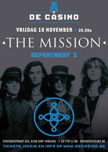 NEWS 10.11. The Mission + Department S @ De Casino - St-Niklaas - B