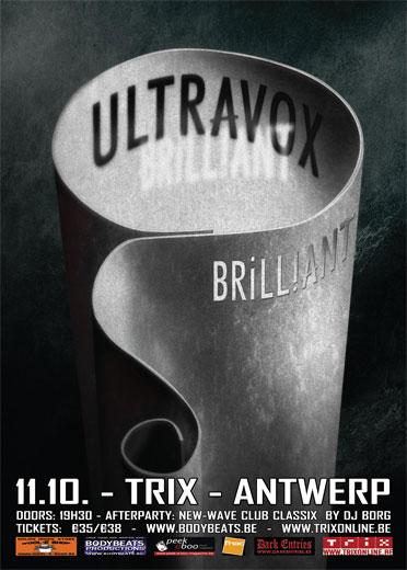ULTRAVOX - BRILLIANT TOUR 2012, Trix Xl - Antwerp