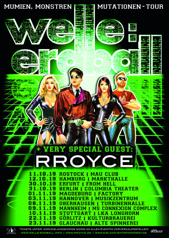 WELLE:ERDBALL MUMIEN, MONSTEREN MUTATATIONEN TOUR 2019, Mau Club, 11/10/2019