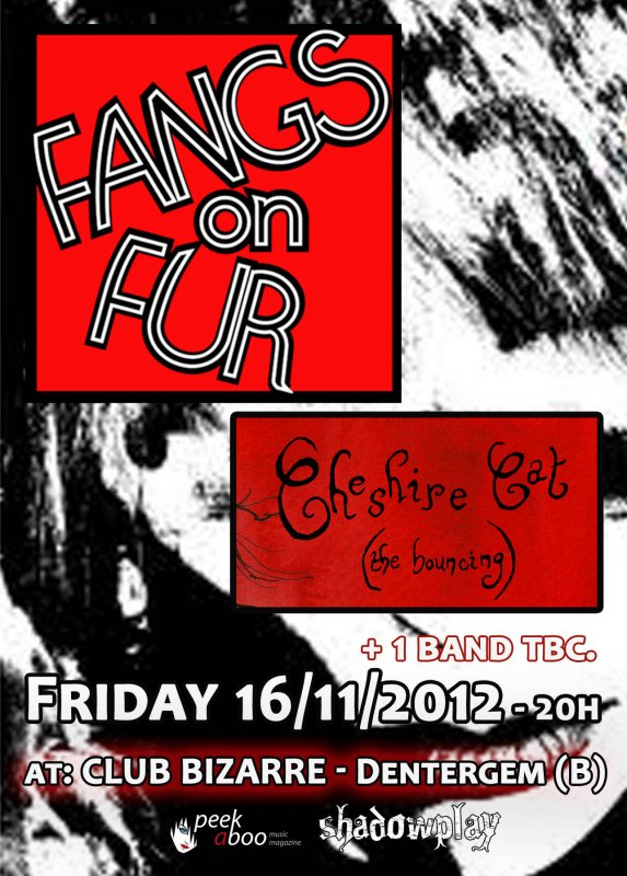 CANCELLED --- FANGS ON FUR + CHESHIRE CAT (THE BOUNCING) + THE MARCHESA CASATI, Club Bizarre, Dentergem