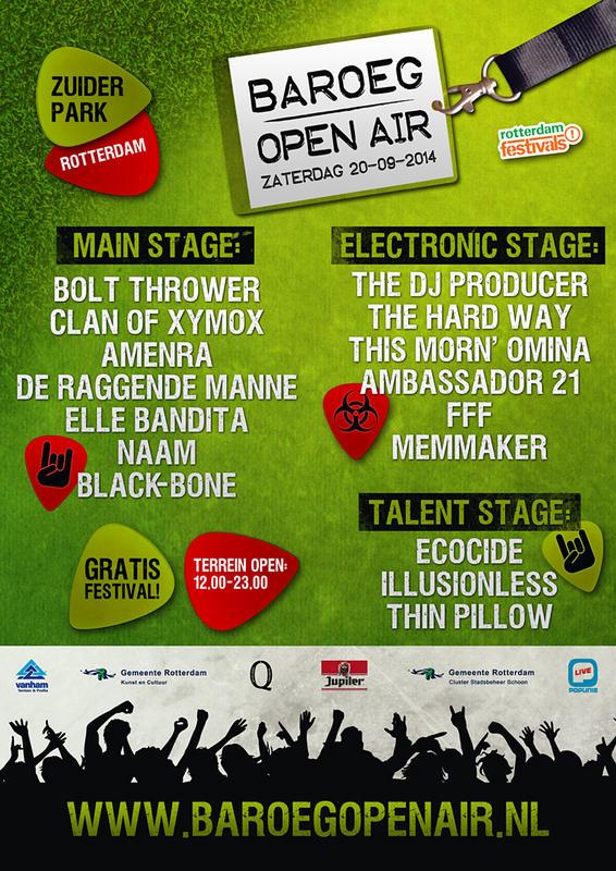 Baroeg Open Air 2014, Festivalterrein Zuiderpark, Ahoyweg 10, 3084 BA Rotterdam, 20/09/2014