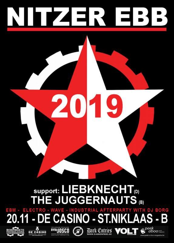 NITZER EBB + LIEBKNECHT + THE JUGGERNAUTS, De Casino