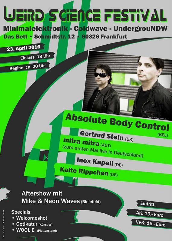 Weird Science Festival, Das Bett, Schmidtstr. 12, Frankfurt, 23/04/2016