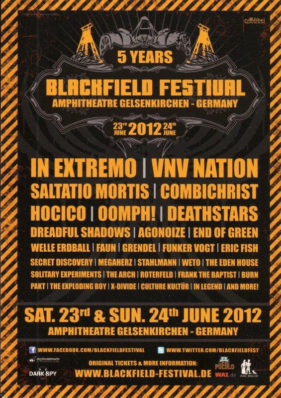 5 YEARS BLACKFIELD FESTIVAL, Amphitheatre - Gelsenkirchen