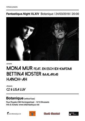 NEWS 24.03 LeFantastique.Night XLXIV with Bettina Köster (Malaria!) & Mona Mur!