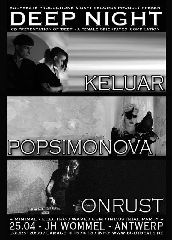 DEEP NIGHT I FEAT. KELUAR + POPSIMONOVA + ONRUST, Jh Wommel, Fort 2 Straat, Wommelgem