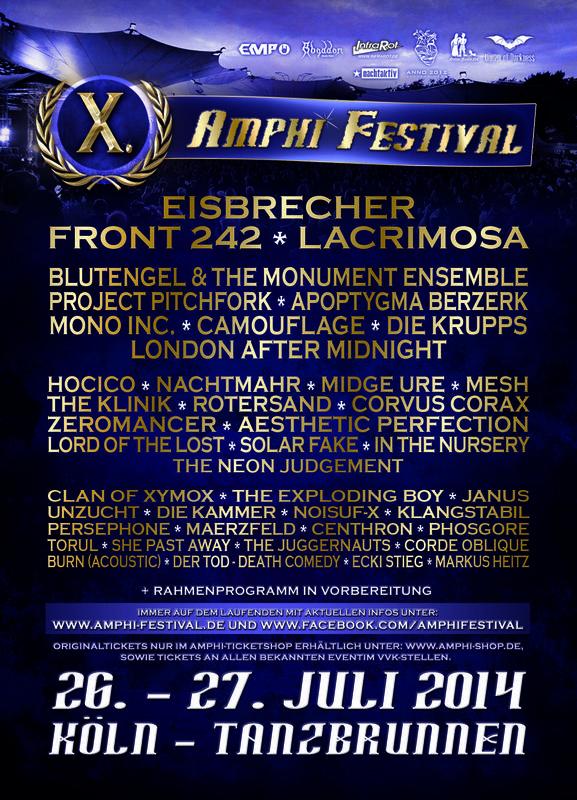 AMPHI FESTIVAL X (DAY 1), Tanzbrunnen, Cologne