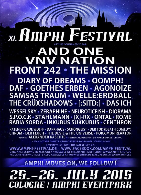 Amphi Festival, Cologne, 26/07/2015