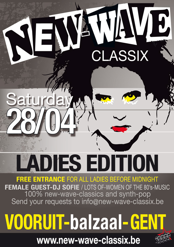 NEW-WAVE-CLASSIX PARTY (SPECIAL LADIES EDITION), Vooruit, Gent