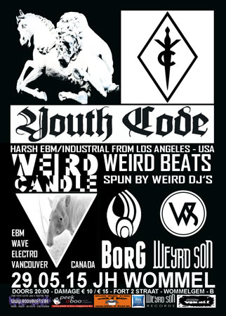 Youth Code + Weird Candle, JH Wommel, Fort 2 straat, Wommelgem, 29/05/2015
