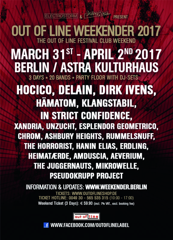 OUT OF LINE WEEKENDER, Astra Kulturhaus, 31/03/2017