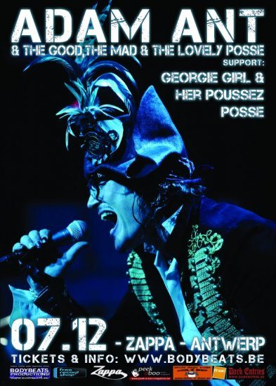 08/12/2012 : ADAM ANT - Review of the concert at Zappa in Antwerp on 7 December 2012
