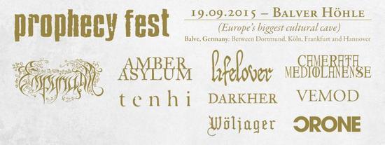 21/09/2015 : AMBER ASYLUM, CAMERATA MEDIOLANENSE, EMPYRIUM, DARKHER, TENHI - Prophecy Fest @ Balver Höhle in Balve 19/09/2015