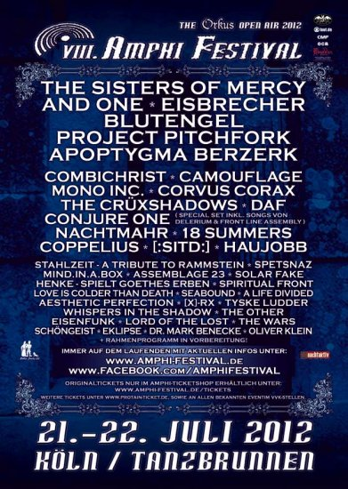 26/07/2012 :  - Review of the Amphi festival 2012 in Cologne (Day ONE)