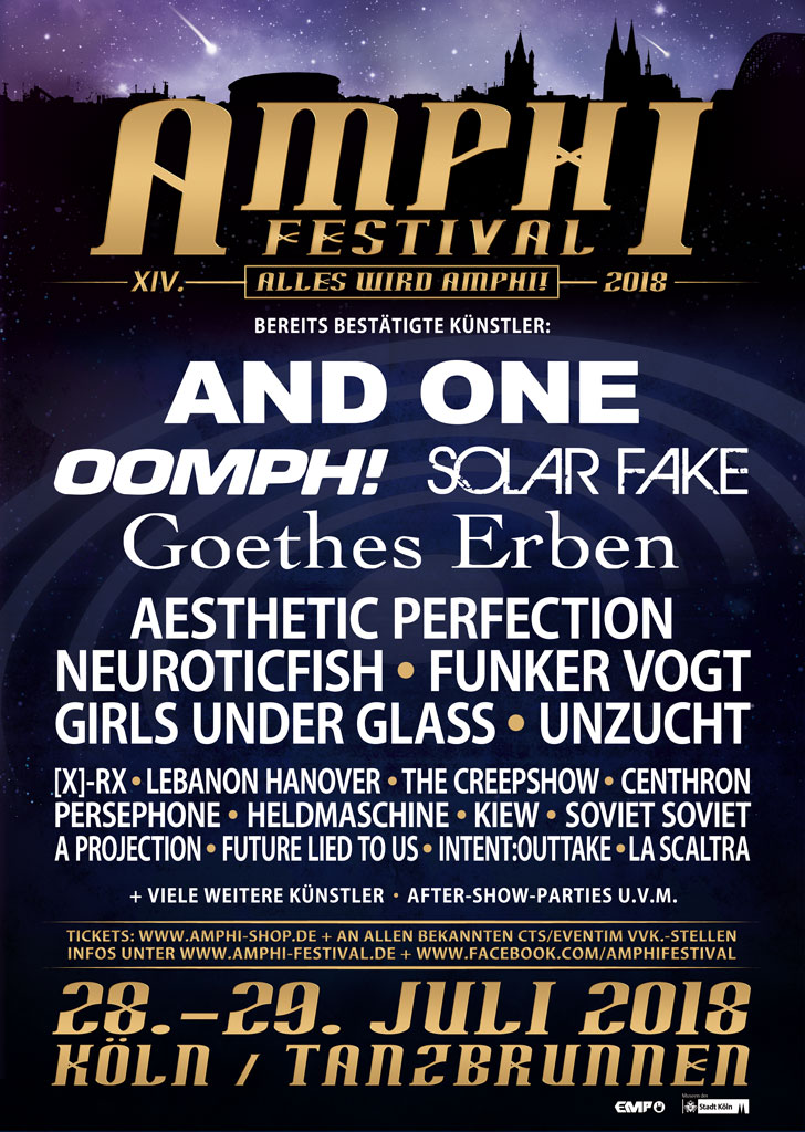 NEWS Amphi Festival releases second wave of bands with focus on cult and diversity!