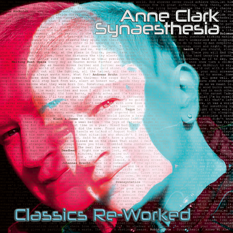 NEWS Anne Clark announces new album 'Synaesthesia - Anne Clark Classics Re-Worked'