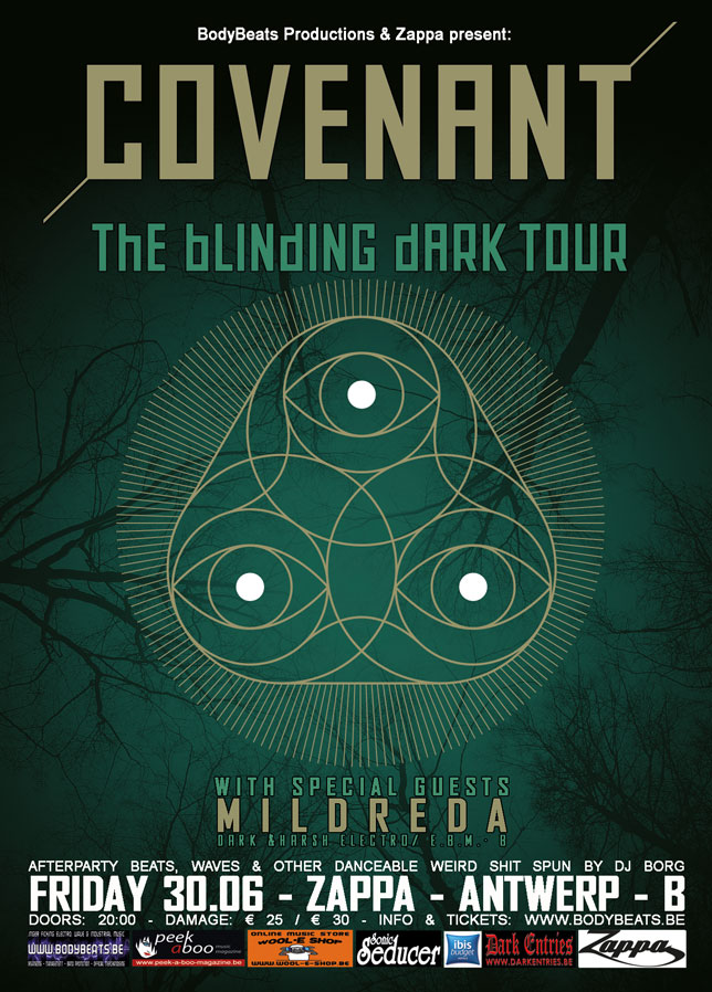 NEWS Belgian Dark Electro project MILDREDA as support for COVENANT - Tonight 30.06 - Antwerp - B