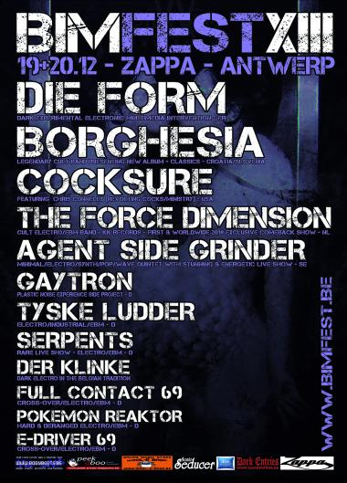 22/12/2014 :  - BIMFEST 2014 DAY 2 FT SERPENTS, COCKSURE AND DIE FORM