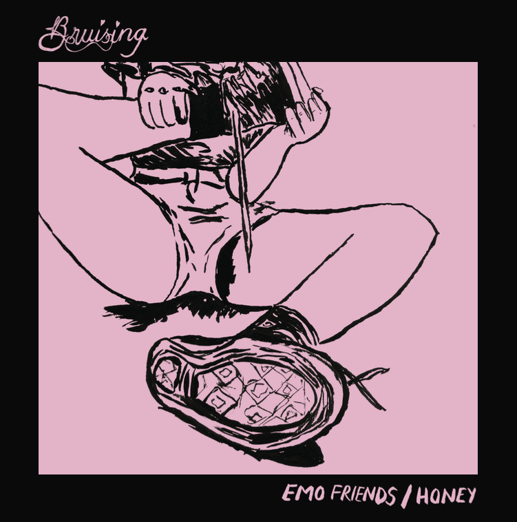 02/12/2015 : BRUISING - Emo Friends/Honey (Single)