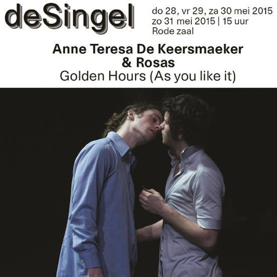 02/06/2015 : ANNE THERESA DE KEERSMAEKER & ROSAS - Golden Hours (As you like it), Antwerpen, deSingel, 28/05/2015