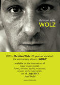Christian Wolz - new album 'WOLZ' - celebrating 25 years of music