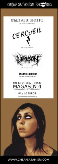 24/04/2012 : CHELSEA WOLFE - Concert at Magasin4 in Brussels on 13th April 2012 with UNISON and CERCUEIL