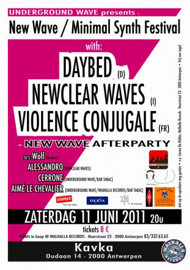 13/06/2011 : DAYBED - NEWCLEAR WAVES   VIOLENCE CONJUGALE   ANTWERP, KAVKA, 11/06/2011   The kingdom of analogue synths