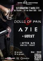 02/06/2014 : DOLLS OF PAIN - Dolls of Pain + A7IE @ Le Viziteur (Lille, France)