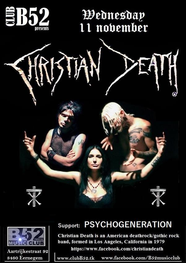 12/11/2015 : CHRISTIAN DEATH - Eernegem, B52