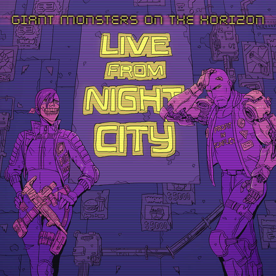 NEWS Electro/Synthwave Act GIANT MONSTERS ON THE HORIZON Unleash New Studio Album - Live From Night City