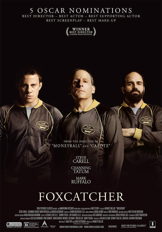 Foxcatcher, from the director of 'Moneyball' and 'Capote', nominated for 5 oscars (A-film)