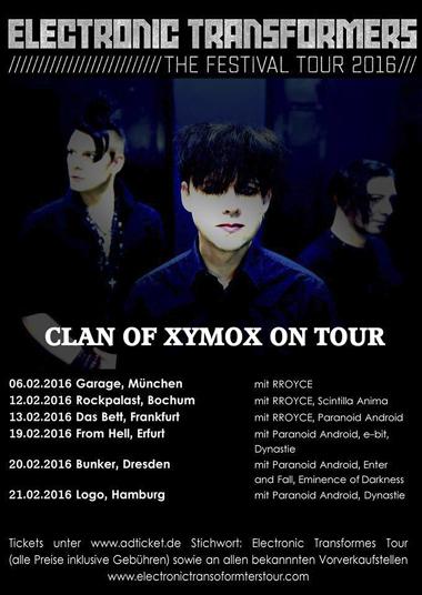15/02/2016 : CLAN OF XYMOX - Frankfurt, Das Bett (13/02/2016)